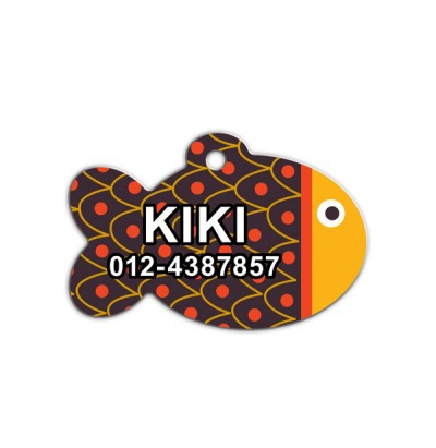 Fish Shape Pet Tag ( FS-001 )