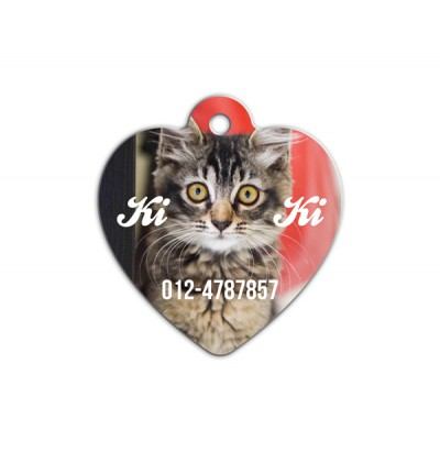 Love Shape Pet Tag ( LV-Photo )