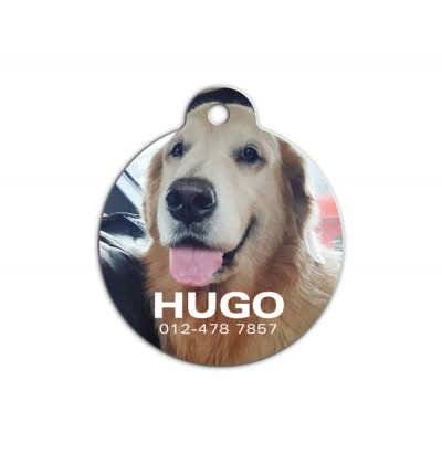 Round Shape Pet Tag ( Photo )